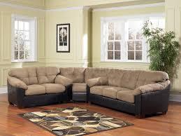 Microfiber Leather Sofa 3590 Cocoa Microfiber Sectional Sofa W Faux Leather