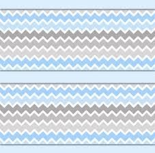 blue grey ombre chevron wallpaper border wall decals boy nursery