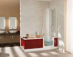 built in bathtub shower combination rectangular acrylic walk