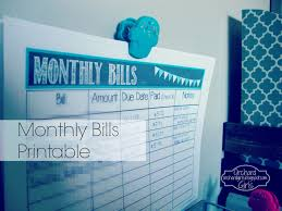 How To Make A Spreadsheet For Monthly Bills Orchard Girls Monthly Bills Organization Station Free Printable