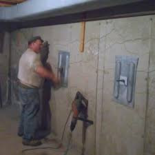 Bowing Basement Wall by Concrete Foundation Wall Repair Service Bryan Locke
