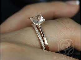 gold wedding sets rosados box gallina 6mm hollie gold princess morganite and