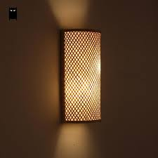 bamboo wicker rattan shade tunnel wall l fixture rustic asian