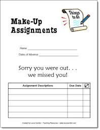 Assignment Form Corkboard Connections Try This When Kids Are Absent