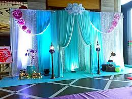 Pink And Teal Curtains Decorating 3m 5m Diameter 1 8m Semicircular Booths Wedding Birthday