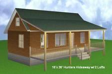 x32 cabin w loft plans package blueprints material list building plans blueprints ebay
