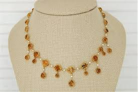 pearl necklace diamonds images Citrine and seed pearl necklace diamond brokerage jewelry