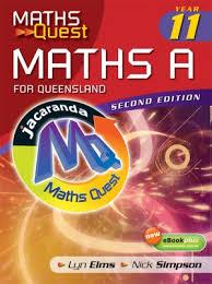 maths quest maths a year 11 for queensland 2e u0026 ebookplus
