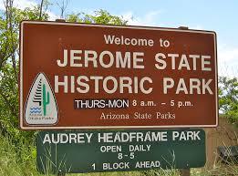 Jerome Arizona Map by Jerome State Historic Park Signs Of Arizona