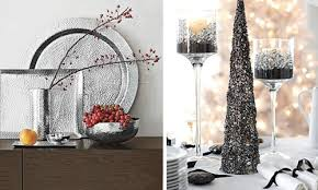 White Silver Christmas Decorations by Decorating Dining Room For Christmas White Silver Christmas Palette