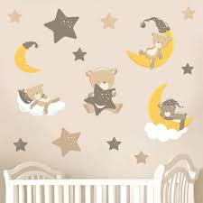 teddybears stars brown pack of 15 childrens nursery teddybears stars brown pack of 15 childrens nursery printed wall art vinyl stickers