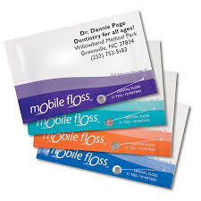 personalized mint mobile floss business cards practicon