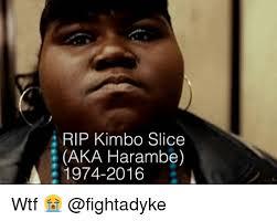 Kimbo Slice Meme - i rip kimbo slice aka harambe 1974 2016 wtf kimbo slice meme