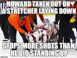 Red Wings Meme - jimmy howard injured imgflip