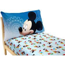 Mickey Mouse Toddler Duvet Set Disney Mickey Mouse Adventure Day 2 Piece Toddler Sheet Set