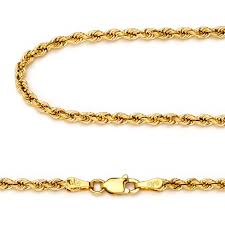 gold chain necklace rope images 14k yellow gold diamond cut 2 5mm italy rope chain twist link jpg