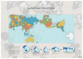 World Continents And Oceans Map by Authagraph World Map True Representation Of The Continents And