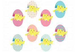 easter eggs clip art illustrations creative market