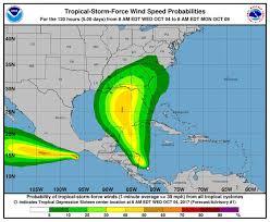 Hurricane Tracking Map Tropical Storm Nate Spaghetti Model Path For Hurricane Time