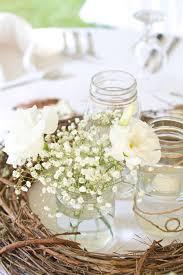 Mason Jars Wedding Centerpieces by Grapevine Baby U0027s Breath U0026 Mason Jar Wedding Centerpieces I Fell