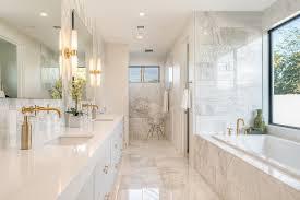 Phoenix Bathroom Vanities by Austin Calcutta Marble Tile Bathroom Traditional With Niche