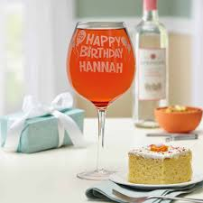 wine birthday personalized happy birthday colossal wine glass walmart com