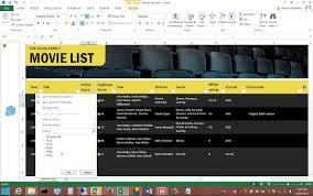 Inventory List Excel Template Review Of The Movie App Template In Microsoft Excel 2013 Youtube