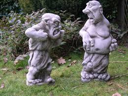 fighting gargoyles mythical garden statue new ebay