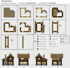 woodland hut small minecraft house blueprint by planetarymap on