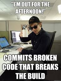 Build A Meme - i m out for the afternoon commits broken code that breaks the