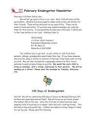 kindergarten newsletter template in word and pdf formats