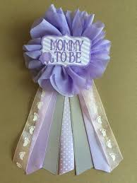 baby shower for to be purple owl baby shower pin to be pin flower ribbon pin