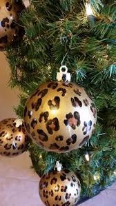 animal print glass ornament set of 4