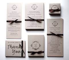 wedding invitation set wedding invitations rsvp postcards earthy and economical