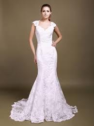 lace cut out mermaid wedding dress