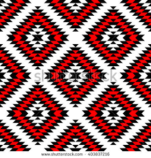 black white aztec ornaments geometric stock illustration