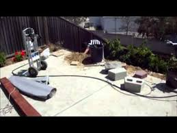 retaining wall building on a slope backyard youtube