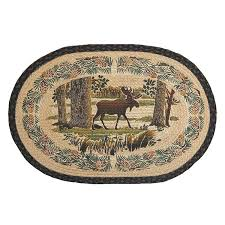Forest Rug Moose Forest Throw Rug Cabin Place