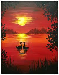 paintings to paint sunset painting for beginners the 25 best beginner painting ideas