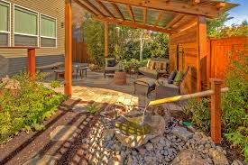 Bamboo Patio Cover Patio Pavers Ideas Porch Traditional With Bark Mulch Columns