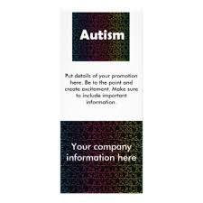 autism rack cards zazzle