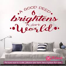a good deed quote inspirational wall decals vinyl art stickers