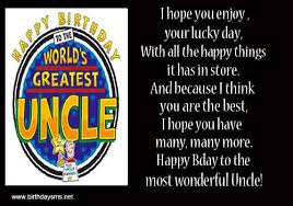 simple e card birthday wishes for greatest uncle greetings