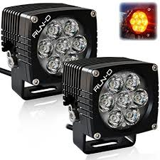 led driving lights automotive amazon com run d amber cube led driving lights 3 inch cree off road