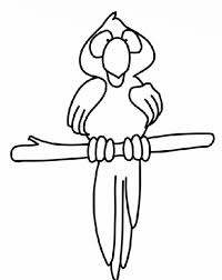 coloring page parrot animal coloring pages 0