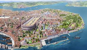 Map Of Constantinople Constantinople Capital Of The Byzantine Empire Papertowns
