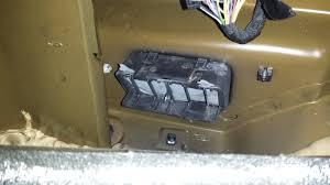 2005 nissan altima rear quarter panel water sloshing sound from passenger rear quarter panel the