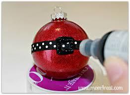 santa u0027s belt ornament glitter in glass ornament christmas