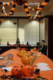 ergonomic halloween office door decorating contest glass table