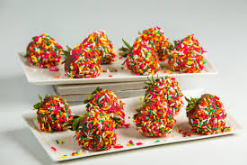 dipped fruit baskets 1 dz rainbow sprinkled chocolate dipped strawberries